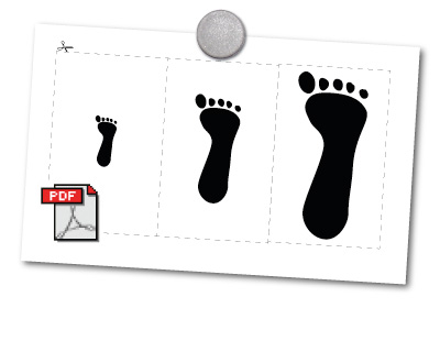 Print out footprints