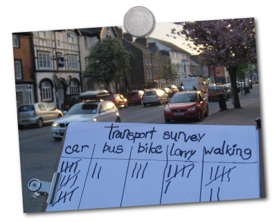 tally chart for county transport types