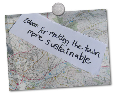 ideas for making the town more sustainable